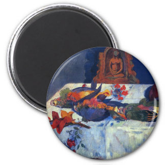 'Still Life with Parrots' - Paul Gauguin Magnet