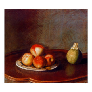 Still life with peaches by Jean Liotard Print