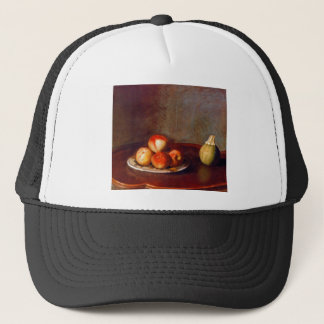 Still life with peaches by Jean Liotard Trucker Hat