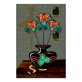 Still Life With Pearls (Fine Art Poster) Poster