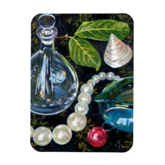 Still Life with Pearls Rectangular Photo Magnet