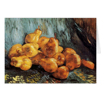 Still Life with Pears by Vincent van Gogh Greeting Cards