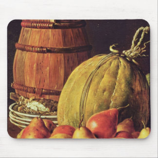 Still Life with pears, melon and barrel Mouse Pad