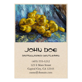 Still Life with Pears Van Gogh painting Large Business Card