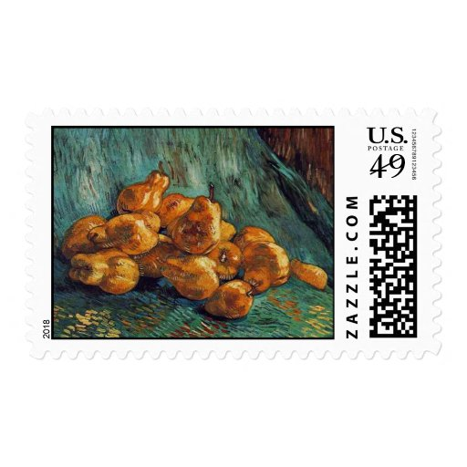 Still Life with Pears, van Gogh Postage