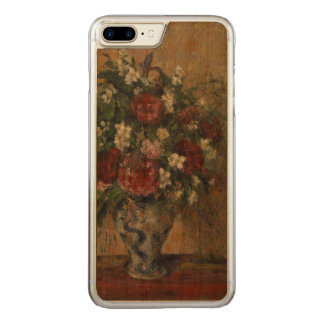 Still life with peonies and mock orange carved iPhone 8 plus/7 plus case