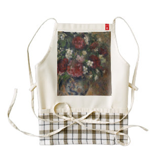 Still life with peonies and mock orange zazzle HEART apron