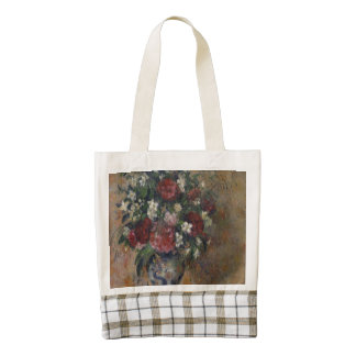 Still life with peonies and mock orange zazzle HEART tote bag