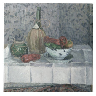 Still Life with Peppers, 1899 (oil on canvas) Ceramic Tile