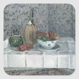 Still Life with Peppers, 1899 (oil on canvas) Square Sticker