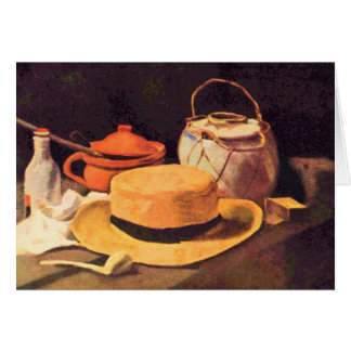 Still Life with Pipe and Straw Hat by van Gogh Card