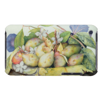 Still life with Plums, Walnuts and Jasmine (w/c on iPod Touch Case-Mate Case