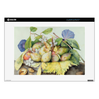 Still life with Plums, Walnuts and Jasmine (w/c on Decals For Laptops