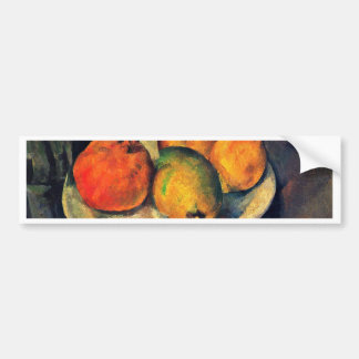 Still Life With Pomegranate And Pears Car Bumper Sticker