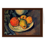 Still Life With Pomegranate And Pears Greeting Card