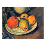 Still Life With Pomegranate And Pears 4.25x5.5 Paper Invitation Card