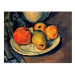 Still Life With Pomegranate And Pears Postcard