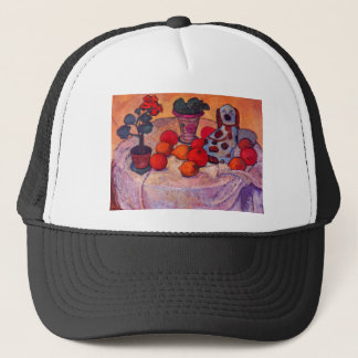Still life with porcelain dog by Modersohn Trucker Hat