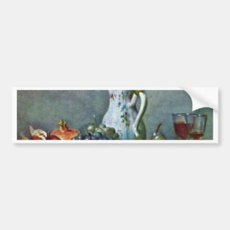 Still Life With Porcelain Teapot,  By Chardin Jean Bumper Sticker