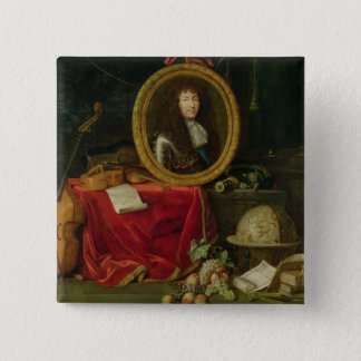 Still life with portrait of King Louis Button