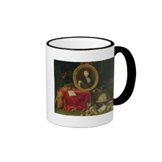 Still life with portrait of King Louis Ringer Mug