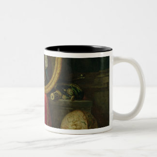 Still life with portrait of King Louis Two-Tone Coffee Mug