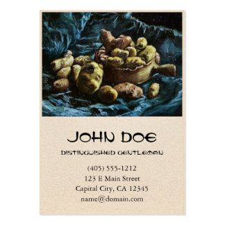 Still Life with Potatoes in a Bowl Van Gogh Vincen Large Business Card