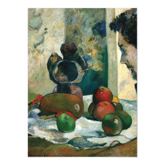 Still Life with Profile of Laval by Paul Gauguin 5.5x7.5 Paper Invitation Card