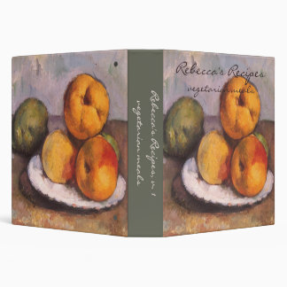 Still Life with Quince, Apples, Pears by Cezanne 3 Ring Binder