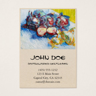 Still Life with Red Cabbage and Onions by Vincent Business Card