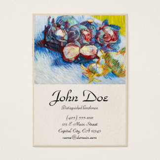 Still Life with Red Cabbage and Onions Van Gogh Business Card