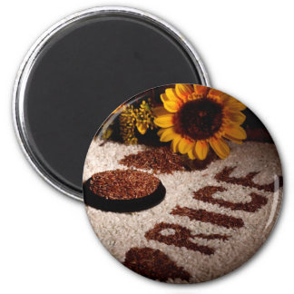 Still Life With Rice 2 Inch Round Magnet