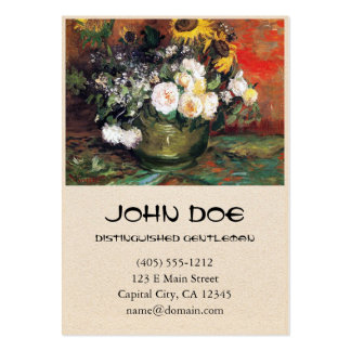 Still Life with Roses and Sunflowers by Vincent Business Card Template