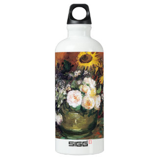 Still Life with Roses and Sunflowers by Vincent SIGG Traveler 0.6L Water Bottle