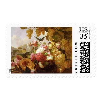 Still Life with Roses and Wine Glasses Postage