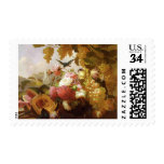 Still Life with Roses and Wine Glasses Stamp