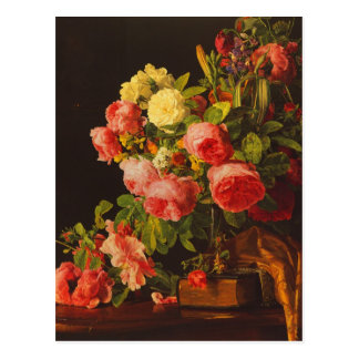 Still life with roses by Waldmuller Postcard