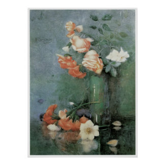 Still Life with Roses in a glass, 1894 Poster