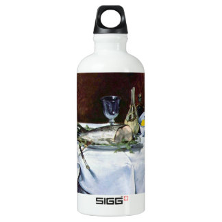 Still Life with Salmon by Edouard Manet Aluminum Water Bottle