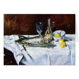 Still Life with Salmon by Edouard Manet Card