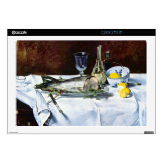 Still Life with Salmon by Edouard Manet Laptop Decal