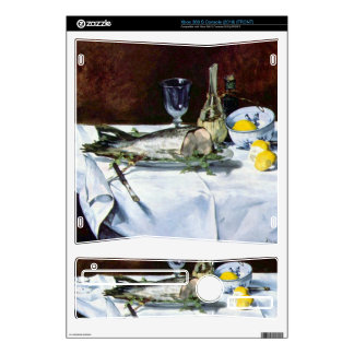 Still Life with Salmon by Edouard Manet Decal For Xbox 360 S