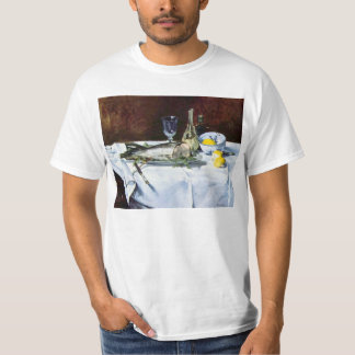 Still Life with Salmon by Edouard Manet T-Shirt
