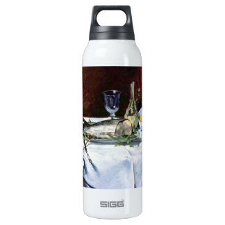 Still Life with Salmon by Edouard Manet Thermos Water Bottle