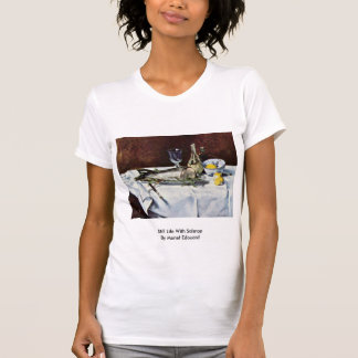 Still Life With Salmon By Manet Edouard T Shirt