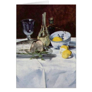 Still life with salmon - Edouard Manet Card