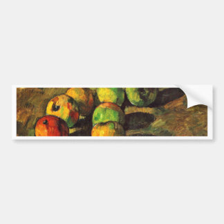 Still Life With Seven Apples By Paul Cézanne Car Bumper Sticker