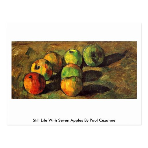 Still Life With Seven Apples By Paul Cezanne Post Cards