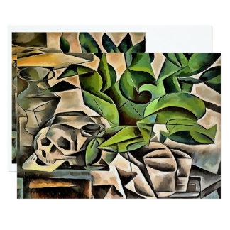 Still life with Skull After Bohumil Kubista Card