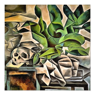 Still life with Skull After Bohumil Kubista Magnetic Card